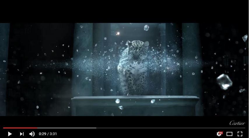 一個 很高檔 用老虎 與動畫美景 串成 的 【L'奧德賽 卡地亞 】 廣告~